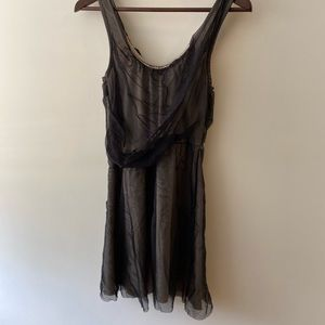 Top Shop Mesh overlay Dress Size 4